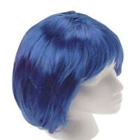 Blue Mod Wig Costume Katy Perry Neon Hair Bob Style Anime Costume Cosplay