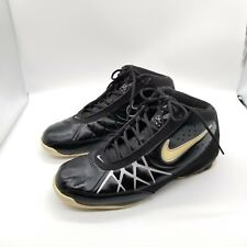 Nike Air Amp Bb 324798-001 Men Basketball Shoes Black Leather US 13