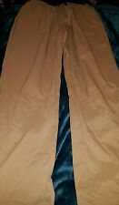 WOOLRICH Quick Dry Nylon Belted kahki Pants 3 pocket  Size Medium 28 x 32