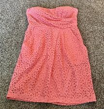 Jodi Kristopher Coral Strapless Lace Sun Dress w/ Pockets size 9, summer wear