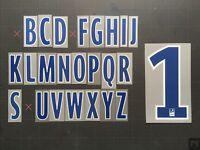 LETTER / LETTRE LFP LIGUE 1 FLOCAGE TRANSFERT MONBLASON ALPHABET (BLUE/WHITE)
