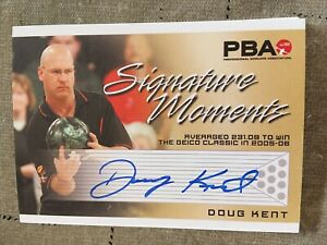 2007 PBA Bowling Signature Moments Autograph Doug Kent
