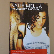 songsheet THE CLOSEST THING TO CRAZY Kathie Melua 1992