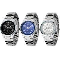 NARY Luxury Men's Watches Stainless Steel Sport Quartz Analog Wrist Watch Gift