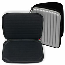 Silver Water And Impact Resistant Memory Foam Carry Case For 10.1 Inch Tablets