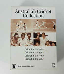 The Australian Cricket Collection 50s 60s 70s 80s DVDs x4