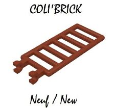 Lego 6020 - 2x Echelles /bar 7x3 with double clips - Reddish brown - lot kg NEUF