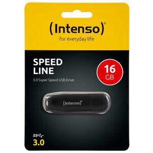 Intenso Speed Line USB Stick USB 3.0 SUPERSSCHNELL schwarz 16 - 256 GB