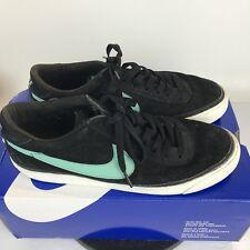 Nike ZOOM BRUIN SB Black Mint Suede Shoes Size US 9 Men's Skateboarding