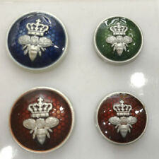 5pcs Bee Crown metal buttons for Blazer, Suits, Sport Coat, Uniform, Jacket