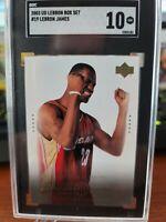 LEBRON JAMES 2003-04 UPPER DECK RC Rookie #19 Box Set SGC 10 GEM MT POP 4 v PSA