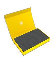 Feldherr Magnetbox gelb mit 25 mm Rasterschaumstoff