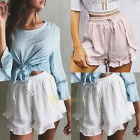 Fashion Lady Women Hot Pants Summer Casual Shorts Beach High Waist Elastic Short