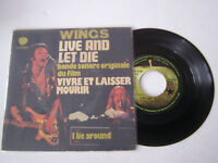 SP 2 TITRES , VINYLE 45 T , WINGS , BOF LIVE AND LET DIE  .  VG  / EX .