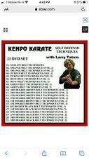 Larry Tatum 21 Dvd Kenpo Self Defense Techniques