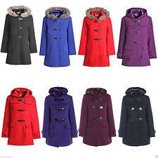 No Pattern Wool Coats & Jackets Plus Size for Women