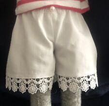 Luna lapin Handmade 100% White Cotton Pantaloons Shorts Trimmed With Lace