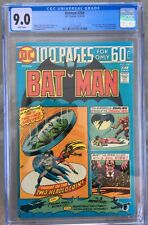 Batman #258 (1974) CGC 9.0 -- White pages; 1st mention of Arkham; Two-Face cover