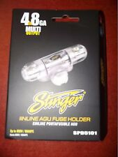 STINGER CAR AUDIO SPD5101 CHROME AGU FUSE HOLDER 4 OR 8 GAUGE INPUT & OUTPUT