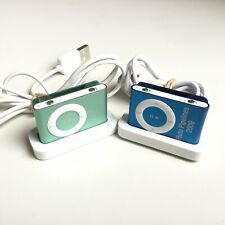 2 x Apple iPod Shuffle A1204 2nd Generation - Blue & Green 1GB #661