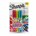 Sharpie Color Burst Permanent Markers, Ultra Fine Point, Assorted, 5-Pack