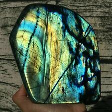 2.2LB-3.0LB Natural Labradorite Quartz Crystal Mineral Spectrolite Healing