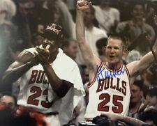 STEVE KERR HAND SIGNED 8x10 PHOTO CHICAGO BULLS MICHAEL JORDAN CHAMPIONSHIPS