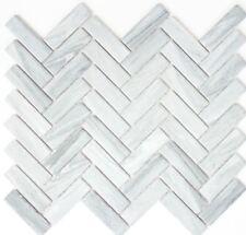 MOSAIC tile ceramic herringbone stone look gray kitchen wall 24-SO32_f |10 sheet