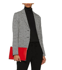 NWT Rag & Bone Leopard Jacquard Blazer in Black/White - size 0 #C988
