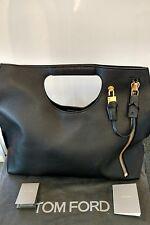 Tom Ford Alix Zip and Padlock Large Black Tote Bag L0563T GLT