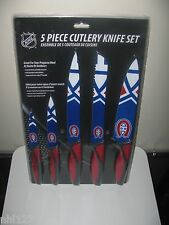 NHL Hockey Montreal Canadiens 5 Piece Stainless Steel Cutlery Knife Set