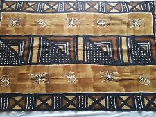 """Authentic African Handwoven 4 Colors Multi Print Mud Cloth Fabric 61"""" by 42"""""""