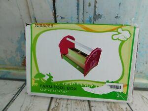"Kids Child Wooden Tool Box Toolbox Old Barn Design 12.2""X7.87""X7.87"""