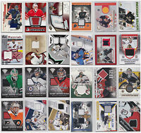 Goalie Game Used Jersey Cards Choose From List SP Ultra Upper Deck Titanium