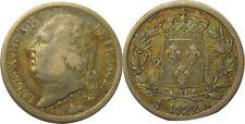 elf France 1/2 Franc 1822 A  Silver   Louis XVIII