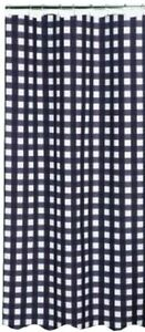 Black & White Gingham Checkered Shower Curtain Country Primitive Buffalo Check