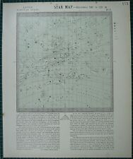 1883 LETTS STAR MAP & CONSTELLATIONS ~ ASTRONOMY VIRGO LEO HYDRAURSA MAJOR
