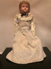 Antique Civil War Era China Head Doll with Leather Body As. Is Need Tlc