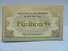 Harry Potter Zugticket London nach Hogwarts Express Platform 9 3/4 Replica a1