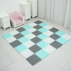 18 Teile Puzzlematte Kinderteppich Spielteppich Schaumstoffmatte Spielmatte Baby