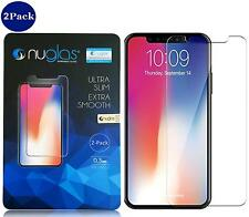 2-Pack Case Friendly Nuglas iPhone X Screen Protector H-D Clear - Free Shipping!