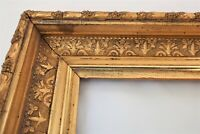 "ANTIQUE FITS 10 X12"" GOLD GILT PICTURE FRAME WOOD GESSO ORNATE FINE ART COUNTRY"