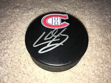 Karl Alzner Hand Signed Autographed Montreal Canadiens Logo Puck Proof Coa