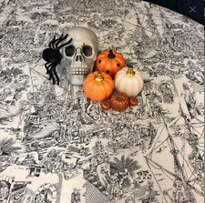 Halloween Tablecloth Black and White