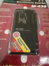 Sony Pressman M-430 Handheld Cassette Voice Recorder New in Damaged Package
