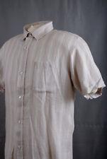 L171/60 VROOM & DREESMANN Camisa a Rayas Pastel de Lujo Colección De Lino, Talla L/G
