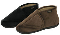 Dr Keller Mens Black Brown Memory Foam Fleece Cosy Slippers Boots Shoes