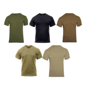 Rothco Solid Color Polyester Plain Army Military Outdoor Short Sleeve T-Shirt