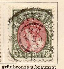 Países Bajos 1898-99 rápida de los problemas bien Usada 50 quater. 119391