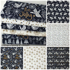 Be Jolly Christmas Fat quarter bundle & fabrics, 100% cotton for sewing & craft